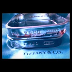 Vintage Tiffany Square Sterling Silver Bangle